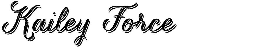 Click to view  Kailey Force font, character set and sample text
