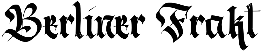 Click to view  Berliner Fraktur font, character set and sample text