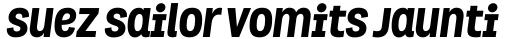 Grota ExtraBold Italic sample