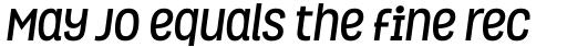 Grota Bold Italic sample