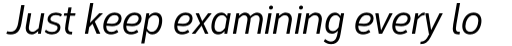 Corbert Condensed Medium Condensed Italic sample