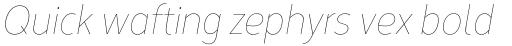 Corbert Condensed Thin Condensed Italic sample