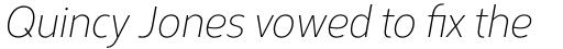 Corbert Condensed Light Condensed Italic sample