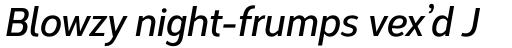 Corbert Condensed Demi Bold Condensed Italic sample
