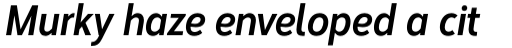 Corbert Condensed Bold Condensed Italic sample