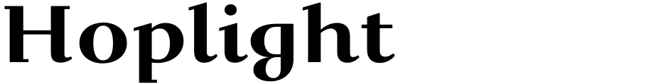 Click to view  Hoplight font, character set and sample text