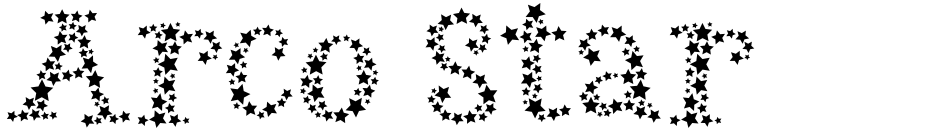 Click to view  Arco Star font, character set and sample text