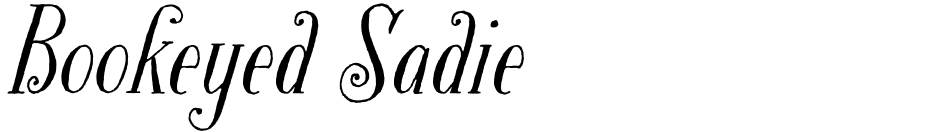 Click to view  Bookeyed Sadie font, character set and sample text
