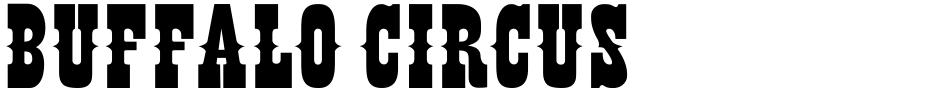 Click to view  Buffalo Circus font, character set and sample text