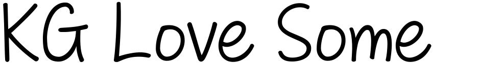 Click to view  KG Love Somebody font, character set and sample text