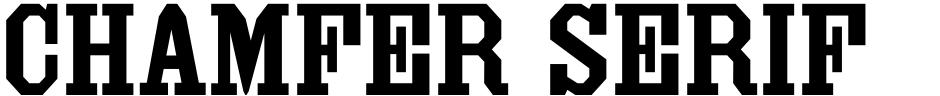 Click to view  Chamfer Serif JNL font, character set and sample text