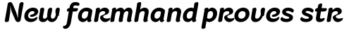 Fruitygreen Pro Bold Italic sample
