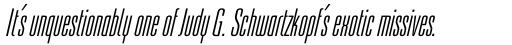 Linotype Freytag Pro Ultra Light Italic sample
