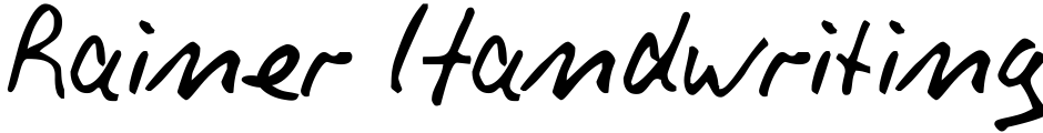 Click to view  Rainer Handwriting font, character set and sample text