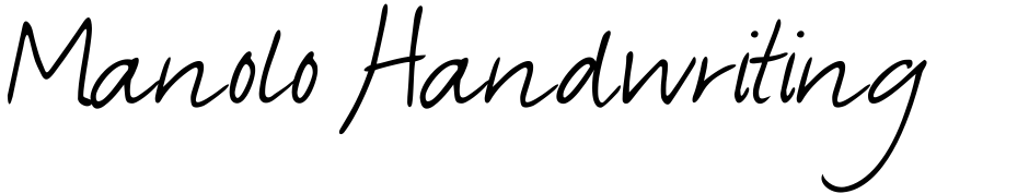 Click to view  Manolo Handwriting font, character set and sample text
