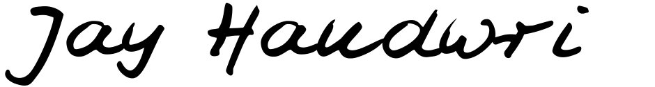 Click to view  Jay Handwriting Pro font, character set and sample text