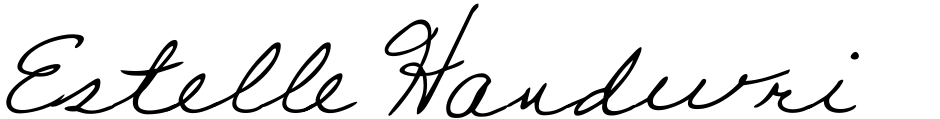 Click to view  Estelle Handwriting font, character set and sample text