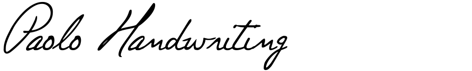 Click to view  Paolo Handwriting font, character set and sample text