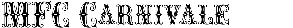 Click to view  MFC Carnivale Monogram font, character set and sample text