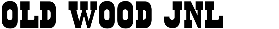 Click to view  Old Wood JNL font, character set and sample text