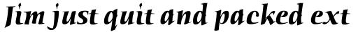 ITC Humana Serif Bold Italic sample