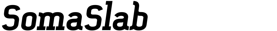 Click to view  SomaSlab font, character set and sample text