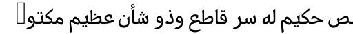 PF Nuyork Arabic sample