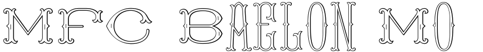 Click to view  MFC Baelon Monogram font, character set and sample text