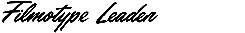 Click to view  Filmotype Leader font, character set and sample text