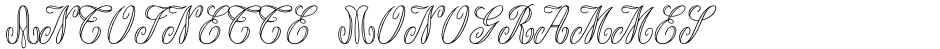 Click to view  Antoinette Monogrammes font, character set and sample text