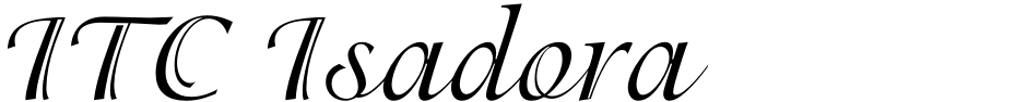 Click to view  ITC Isadora font, character set and sample text