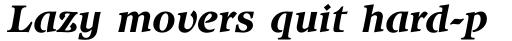 ITC Isbell Std Bold Italic sample