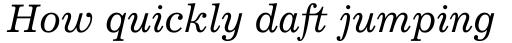 Excelsior Cyrillic Italic sample