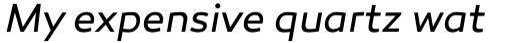 Canaro Book Italic sample