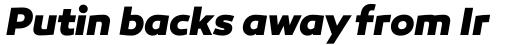 Canaro ExtraBold Italic sample