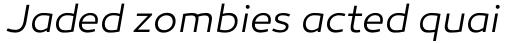 Canaro Light Italic sample
