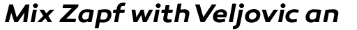 Canaro SemiBold Italic sample