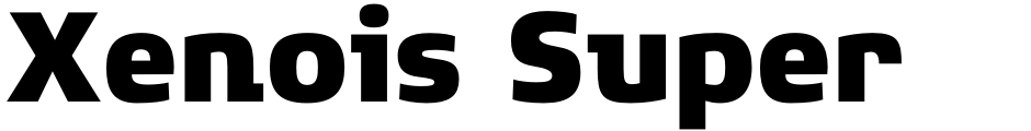 Click to view  Xenois Super font, character set and sample text