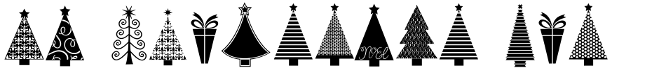 Click to view  KG Christmas Trees font, character set and sample text