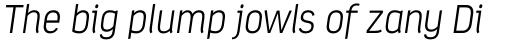Estandar ExtraLight Italic sample