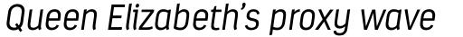 Estandar Light Italic sample