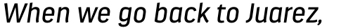 Estandar Italic sample