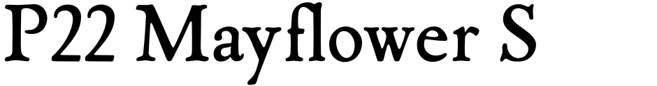 Click to view  P22 Mayflower Smooth font, character set and sample text