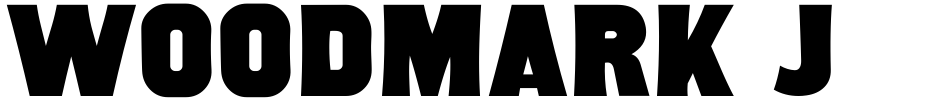 Click to view  Woodmark JNL font, character set and sample text