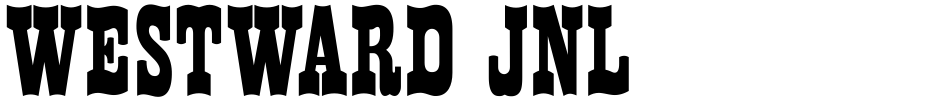 Click to view  Westward JNL font, character set and sample text