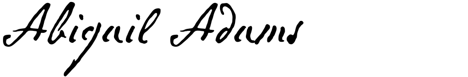 Click to view  Abigail Adams font, character set and sample text