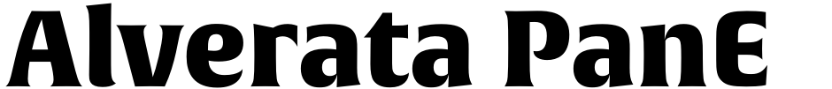 Click to view  Alverata PanEuropean font, character set and sample text