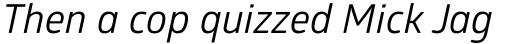 Glober Regular Italic sample