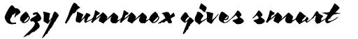 ITC Kick Italic sample