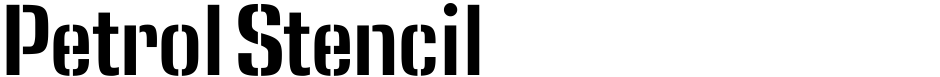 Click to view  Petrol Stencil font, character set and sample text
